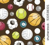 sport balls set pattern | Shutterstock .eps vector #533538331