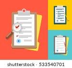 vector application form.... | Shutterstock .eps vector #533540701