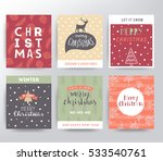 christmas illustration set | Shutterstock .eps vector #533540761