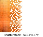 abstract square pixel mosaic... | Shutterstock .eps vector #533541679