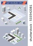 set for design 3d cityscape... | Shutterstock .eps vector #533542081