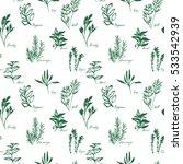 set grass. seamless background. ... | Shutterstock . vector #533542939