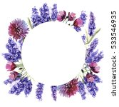 wildflower lavender flower... | Shutterstock . vector #533546935