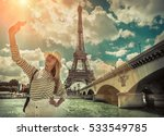 woman tourist selfie near the... | Shutterstock . vector #533549785