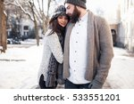 Winter Snow Couple Love Story