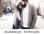 Winter Snow Couple Love Story