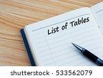 list of tables text written on...   Shutterstock . vector #533562079