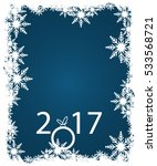 new year on winter snowflakes... | Shutterstock .eps vector #533568721
