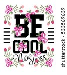 Slogan With Flower Vector Art