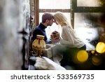 happy couple of lovers in... | Shutterstock . vector #533569735