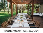 festive table at wedding... | Shutterstock . vector #533569954