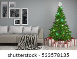christmas tree with decorations ... | Shutterstock . vector #533578135