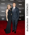 Small photo of Alan Tudyk and Charissa Barton at the World premiere of 'Rogue One: A Star Wars Story' held at the Pantages Theatre in Hollywood, USA on December 10, 2016.