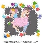 upset young couple having... | Shutterstock .eps vector #533581369