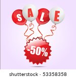 shopping and sale vector sign... | Shutterstock .eps vector #53358358