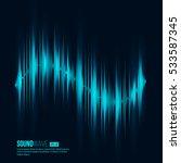 digital equalizer. sound wave.... | Shutterstock .eps vector #533587345