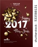 happy new year 2017 greeting... | Shutterstock .eps vector #533588131