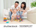 asian parent looking at their... | Shutterstock . vector #533589157