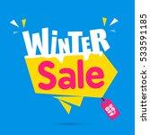 winter sale banner design | Shutterstock .eps vector #533591185