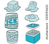 vector set of ice | Shutterstock .eps vector #533592631