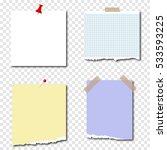 set the paper passage  pieces... | Shutterstock .eps vector #533593225