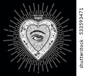 ornate mystic eye inside the...   Shutterstock .eps vector #533593471