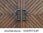 Wooden Door With Iron Handles