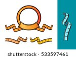 ribbons and film vector... | Shutterstock .eps vector #533597461