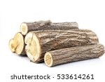 pine logs on white background....