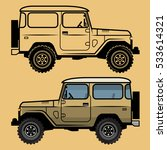 classic off road suv car ... | Shutterstock .eps vector #533614321