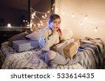 beautiful little girl sitting...   Shutterstock . vector #533614435