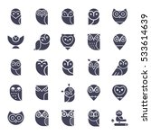 owl glyphs icons collection.... | Shutterstock .eps vector #533614639