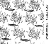vector seamless pattern with... | Shutterstock .eps vector #533615659