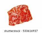 Raw Steak Flat Iron Steak Beef...