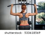 photo of woman doing exercises... | Shutterstock . vector #533618569