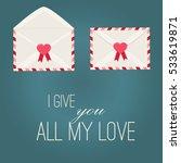 happy valentine day envelope... | Shutterstock .eps vector #533619871