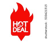 hot deal icon illustration... | Shutterstock .eps vector #533621515