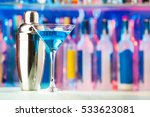 martini glass and shaker... | Shutterstock . vector #533623081