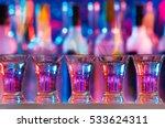 five burning drinks in shot... | Shutterstock . vector #533624311
