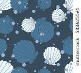 seashells icons seamless... | Shutterstock .eps vector #533625565