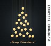 christmas bulb lights arranged... | Shutterstock .eps vector #533625895