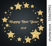 christmas background made of... | Shutterstock .eps vector #533625901