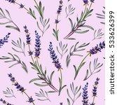 lavender flowers pattern.... | Shutterstock . vector #533626399