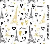 travel paris eiffel tower... | Shutterstock .eps vector #533630605