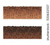 ground cutaway vector   Shutterstock .eps vector #533632537