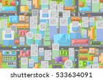 seamless pattern. city view... | Shutterstock .eps vector #533634091