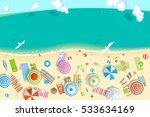 vector illustration. sunny... | Shutterstock .eps vector #533634169