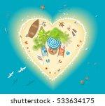 vector illustration. paradise... | Shutterstock .eps vector #533634175