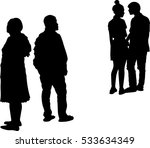 silhouette vector of couple... | Shutterstock .eps vector #533634349