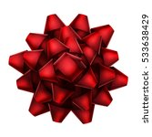 red bow top view isolated on... | Shutterstock .eps vector #533638429